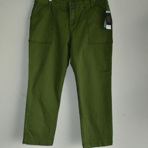 Kut from the Cloth green crop straight leg pants